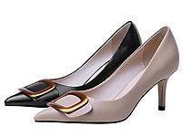 2020春季爆款美丽佳人时尚金属扣高跟鞋