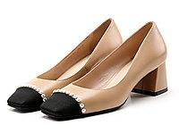 歌斯东尼2020夏季新款小香风单鞋女方头浅口女鞋