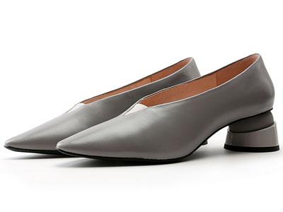 歌斯东尼秋冬新款单鞋女真皮软底舒适奶奶鞋