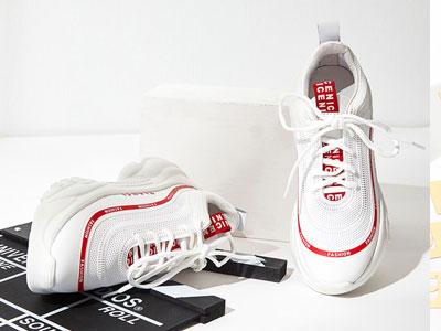 爱旅儿-春季时尚小白鞋休闲厚底老爹鞋