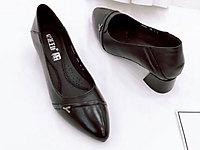 花王女鞋2020新款尖头皮鞋中跟高跟工作鞋