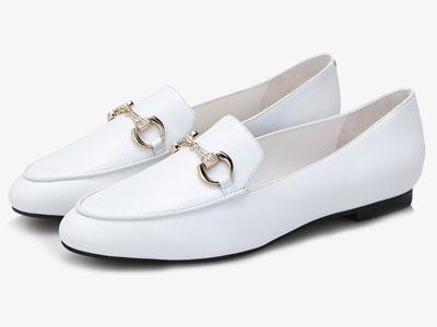LR.BEFAY左右缤纷2020新款秋鞋秋季白色小皮鞋