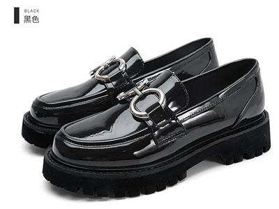 欧蔓莎OMS秋季新品女单鞋英伦风小皮鞋