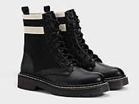 Bershka2020新款黑色英伦机车短靴马丁靴