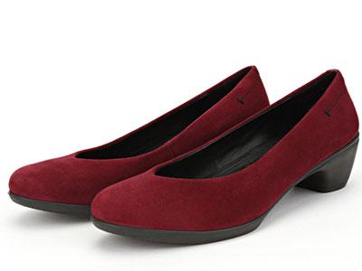 COZY-STEPS新款粗跟浅口圆头纯色百搭时尚单鞋