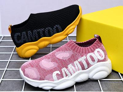 卡途童鞋一脚蹬懒人鞋透气软底鞋
