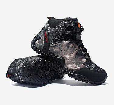 百登秋季迷彩高��敉庑�登山鞋男靴