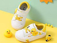 芭芭鸭儿童板鞋休闲鞋宝宝鞋1-3岁小白鞋