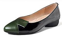 达利拉浅口低跟单鞋女真皮女士小跟皮鞋2020新款