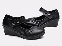 乐雅琦妈妈鞋真皮软底中老年女鞋浅口单鞋