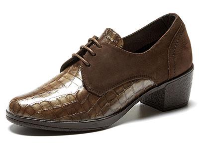 24Hrs西班牙24小时进口女士优雅系带中跟单鞋