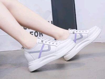 卡卡登松糕底鞋女厚底新款休闲圆头小白鞋