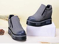 格古力女鞋马丁靴女英伦风厚底松糕短靴
