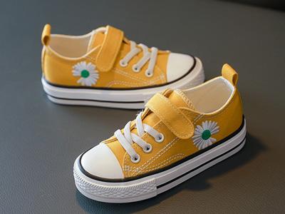 蠟筆小新兒童帆布鞋男童女童鞋子小雛菊童鞋