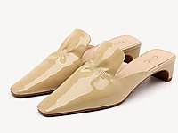 GNC女鞋2020新款漆皮中跟�r尚百搭一�_蹬潮