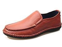 索克男鞋真皮日常休闲鞋男士大码套脚驾车鞋