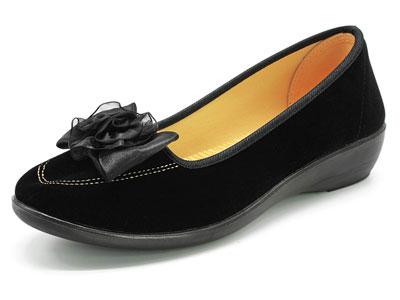 步源轩老北京布鞋女软底坡跟妈妈鞋