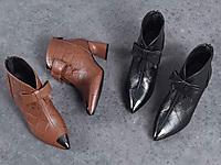 芬妮丝真皮女鞋菲卡梵时尚新款蝴蝶马丁靴
