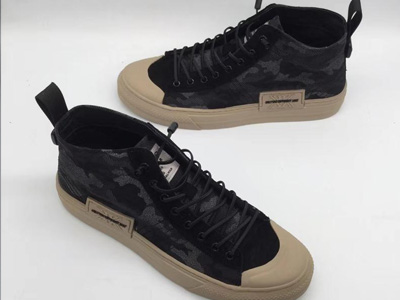 威迪堡狮男鞋潮流百搭高帮韩版运动板鞋