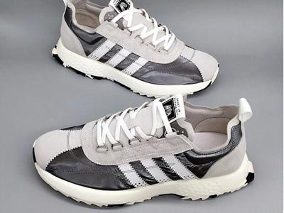威迪堡狮真皮休闲运动阿甘鞋男士小白鞋