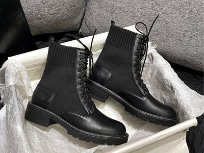 绘会-huihui马丁靴2020秋冬季英伦风内增高女鞋