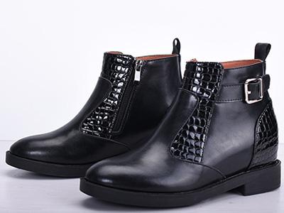 绘会-huihui马丁靴女2020新款秋冬真皮粗跟短靴