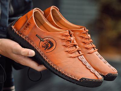 ENLEN&BENNA英伦班纳男鞋商务头层鞋带低帮皮鞋