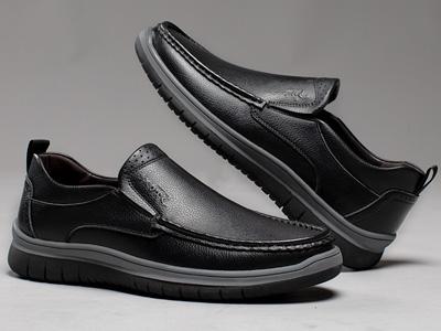 承发皮鞋男2020新款皮鞋男新款一脚蹬男士休闲鞋