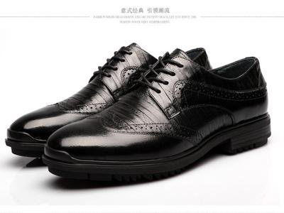 查理男鞋新款真皮圆头商务休闲磨砂皮鞋