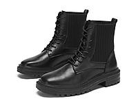 达芙妮2020冬季新款靴子小齿轮瘦瘦马丁靴