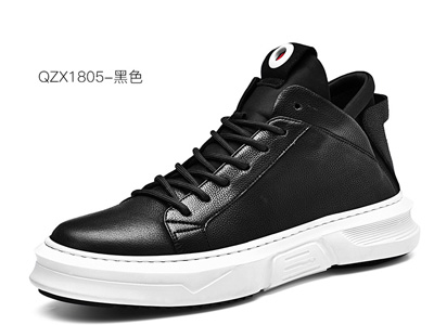 秋季新款潮流时尚皮鞋休闲鞋男鞋英伦高帮鞋