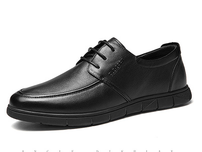 保羅蓋帝軟皮鞋男士商務休閑鞋透氣百搭真皮男鞋
