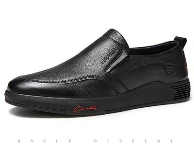 保罗盖帝软皮鞋男士一脚蹬鞋懒人开车皮鞋