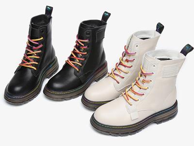 SNC圣恩熙2020新款冬季真皮馬丁靴