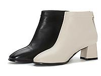 奥康女鞋2020新款时尚百搭粗跟瘦瘦靴及踝短靴