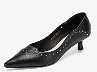 �W康女鞋2020新款�r尚尖�^鞋低跟�\口�涡�女