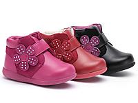 BubbleGummers冬季真皮小童靴时尚花朵休闲短靴