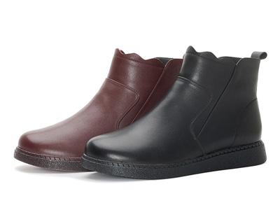 奥康女鞋-2020秋冬新款单鞋舒适中老年加绒妈妈鞋
