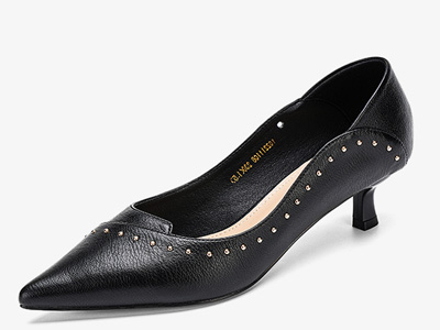 奥康女鞋2020新款时尚尖头鞋低跟浅口单鞋女