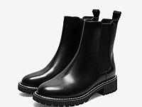 Teenmix天美意2020冬新款英伦厚底切尔西靴