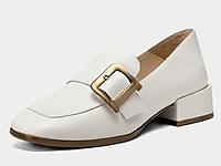 千百度女鞋2020新款英伦乐福鞋-时尚懒人鞋