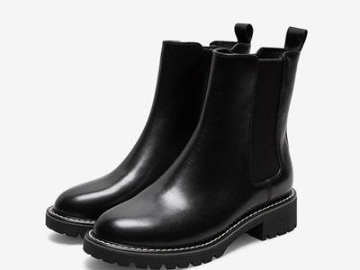 Teenmix天美意2020冬新款英倫厚底切爾西靴