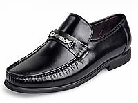 宾度男鞋秋冬季英伦男士商务正装皮鞋真皮爸爸鞋