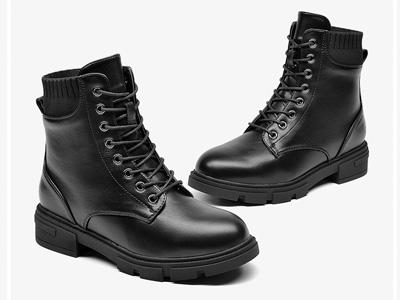 DUSTO大東2020新款冬季歐美英倫風中跟粗跟鞋