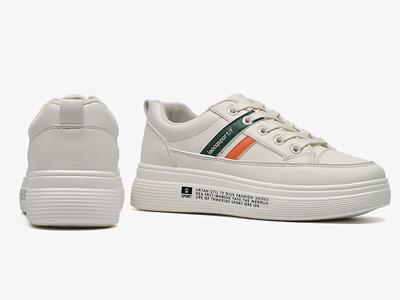 DUSTO大东2020新款冬季休闲拼接平底小白鞋