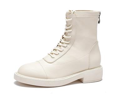 戈美其2020冬季新款高筒系带马丁靴女英伦风高帮