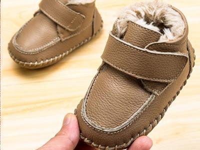屁屁熊1-2岁男童软底加绒学步冬季鞋