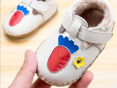 屁屁熊学步冬季加厚保暖软底婴儿棉鞋