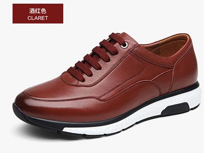 GOLL谷尔真皮男鞋春季商务休闲鞋英伦运动皮鞋
