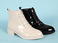丹比奴皮鞋2020新款方跟短靴